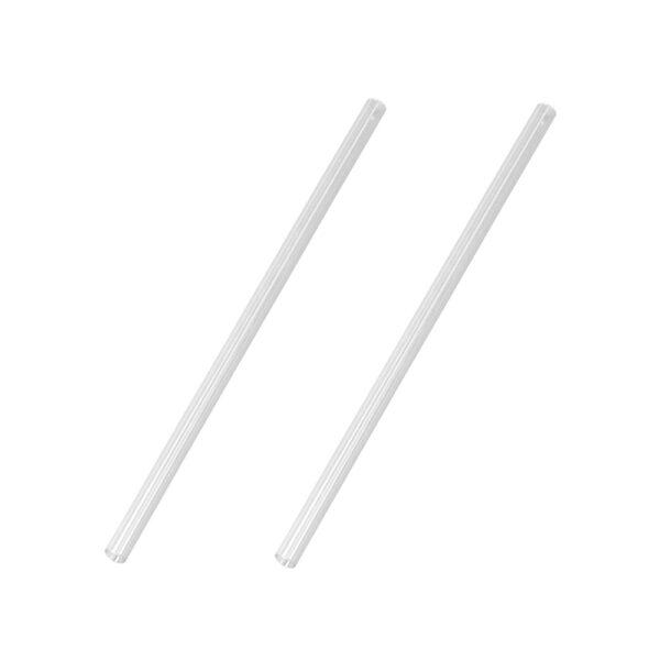 Sugrör Rakt PVC Klar 6x185mm
